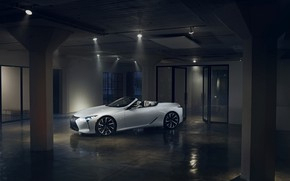 Picture white, Lexus, convertible, the room, 2019, LC Convertible Concept