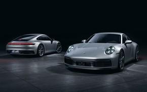 Picture Auto, Porsche, Machine, Grey, Porsche 911, Transport & Vehicles, Porsche 911 Carrera 4S, by the …