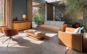 Picture retro, interior, living room, mid-century modern