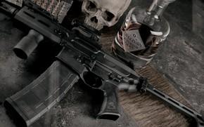Picture weapons, sake, bottle, rifle, m16, ar 15, assault rifle, ar-15, skull, custom, ar-15, weapon, ar …
