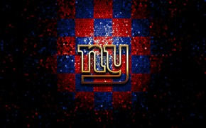 Picture wallpaper, sport, logo, NFL, glitter, checkered, New York Giants