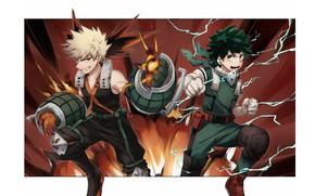 Picture guys, heroes, My Hero Academia, Boku No Hero Academy, Midori Isuku, My Hero Academy, Bakuga …