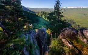 Picture landscape, mountains, nature, plateau, Lago-Naki, Sergey Sergeev, Western Caucasus