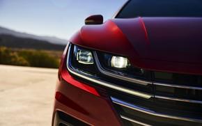 Picture red, the hood, Volkswagen, liftback, Arteon, 2019, SEL Premium R-Line