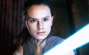 Picture look, girl, lightsaber, Rey, Star Wars Battlefront II, Star Wars Battlefront II (2017)