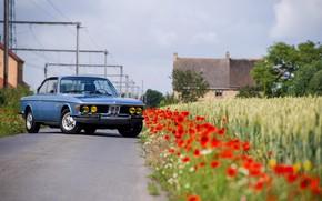Picture Road, BMW, Maki, 1971, Lights, Classic car, BMW 3.0 CSi (E9)