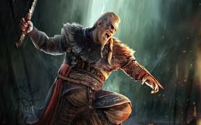 Picture game, axe, art, axe, warriors, Creek, games, art, Viking, viking, eivor, valhalla, assassin's creed valhalla, …