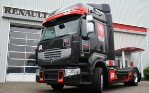 Picture black, truck, Renault, tractor, Renault Trucks, Premium Optiracer