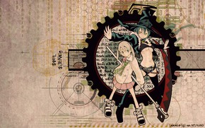 Picture girls, anime, witch, Soul eater, Soul Eater