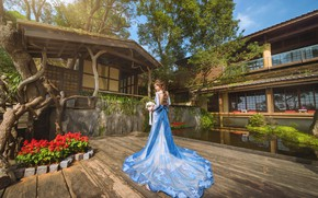 Picture flowers, home, garden, dress, Asian, patio