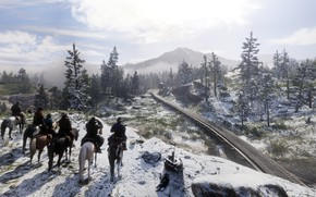 Picture background, the game, Red Dead Redemption II