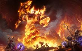 Picture World of Warcraft, warcraft, Blizzard Entertainment, ragnaros, molten core, WoW Classic, sulfuras