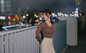 Picture girl, face, model, the evening, figure