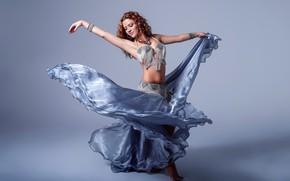 Picture girl, hair, skirt, dance, figure, beauty, Alba Morales