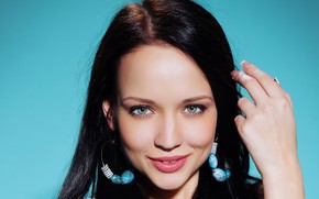 Picture look, earrings, Model, hairstyle, Angelina Petrova