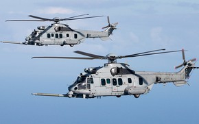 Picture Helicopter, Airbus, The French air force, Airbus Helicopters, Air force, H225, Airbus Helicopters H225M