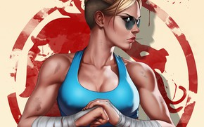 Picture girl, art, Mortal Kombat, Cassie Cage, Cassie Cage, by Dandonfuga