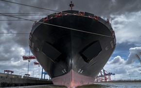 Wallpaper water, ship, port, Hamburg