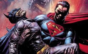 Picture fantasy, Batman, comics, Superman, artwork, mask, superheroes, costume, fantasy art, DC Comics, cape