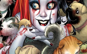 Picture Smile, Cats, Hair, Blood, Lizard, Eyes, Collar, Dogs, Comic, Animals, Smile, Eyes, Harley Quinn, Dogs, …