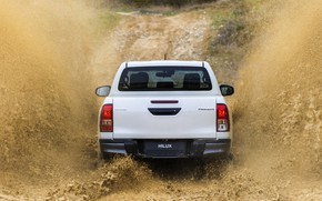 Picture white, squirt, Toyota, pickup, Hilux, Special Edition, feed, 2019