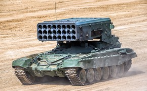 "Picture TOS-1A, BM-1, heavy flamethrower system, TOS-1A ""Solntsepek"""