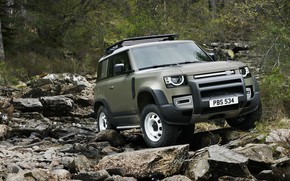Picture Land Rover, snow, Defender, Land Rover Defender, Land Rover Defender 90 D240 SE, 90 D240 …