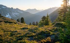 Picture mountains, USA, Glacier Peak Wilderness