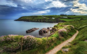 Picture the sky, clouds, coast, Ireland