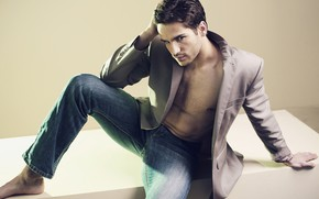 Picture look, pose, body, jeans, male, jacket, handsome