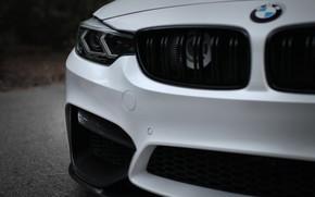 Picture BMW, White, F80, Sight, Aggressive