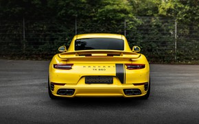 Picture yellow, coupe, 911, Porsche, rear view, 991, Manhart, 911 Turbo S, 2020, 991.2, 850 л.с., …
