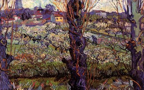 Picture Vincent van Gogh, Orchard in Blossom, with View of Arles
