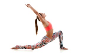Picture female, workout, yoga