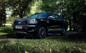 Picture black, vegetation, Ford, pickup, Ranger
