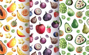 Picture background, texture, fruit, patterns