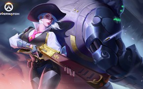 Picture Girl, Blizzard, Art, Game, Illustration, Ashe, Sheriff, Overwatch, Game Art, Star Academy, Elizabeth Caledonia Ashe, …