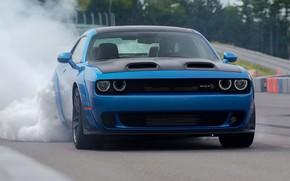 Picture Dodge Challenger, Hellcat, SRT, Bernout
