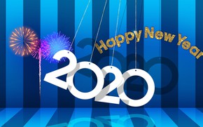 Picture background, New year, fireworks, New Year, 2020