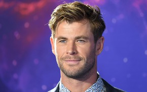 Picture face, smile, portrait, actor, bristles, Chris Hemsworth, Chris Hemsworth