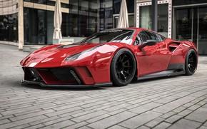 Picture Red, Auto, Machine, Ferrari, Car, Supercar, Rendering, Concept Art, Sports car, Vehicles, 488, Ferrari 488, …