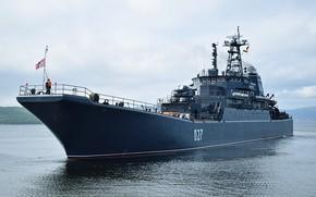 Picture the project 775, large landing ship, Kondopoga