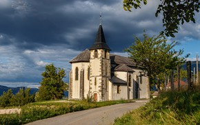 Picture road, France, Church