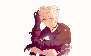 Picture flowers, Lily, gloves, wreath, Nier Automata, YoRHa No 9 Type S
