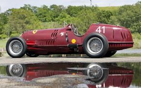 Picture Reflection, Wheel, Spokes, Alfa Romeo, Classic, Scuderia Ferrari, Grand Prix, 1935, Classic car, Sports car, ...