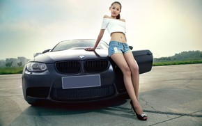 Picture auto, look, Girls, BMW, Asian, beautiful girl