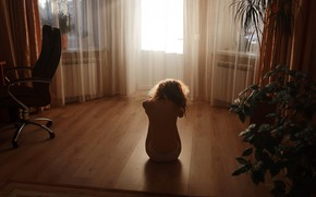 Picture girl, loneliness, room, Aleks Five