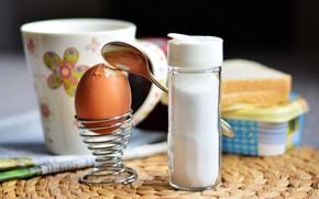 Picture egg, Breakfast, salt