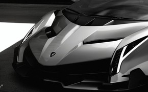 Picture Auto, Minimalism, Machine, Lights, Lambo, Hypercar, Black And White, Veneno, Gran Turismo Sport, Lamboghini, Lamba