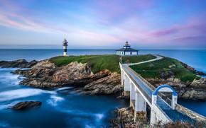 Picture sea, house, shore, lighthouse, pierce, Cape